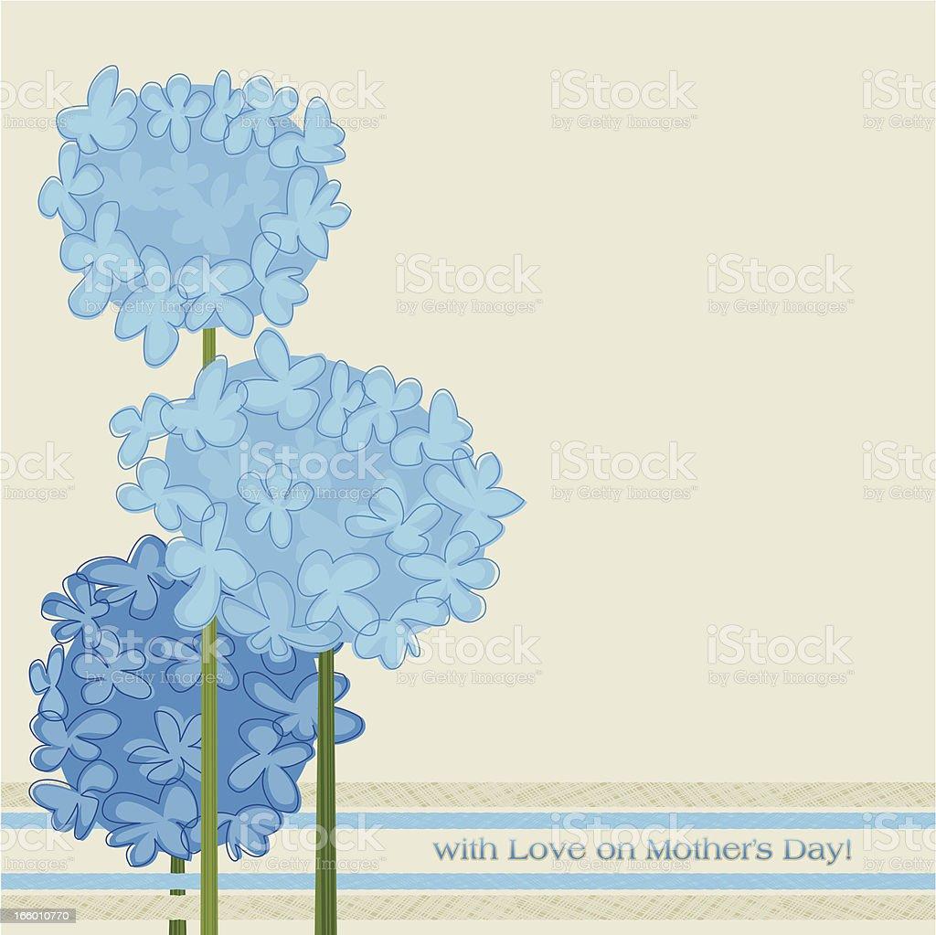 Blue Hydrangeas royalty-free stock vector art