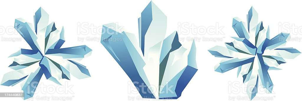 blue ice crystal royalty-free stock vector art