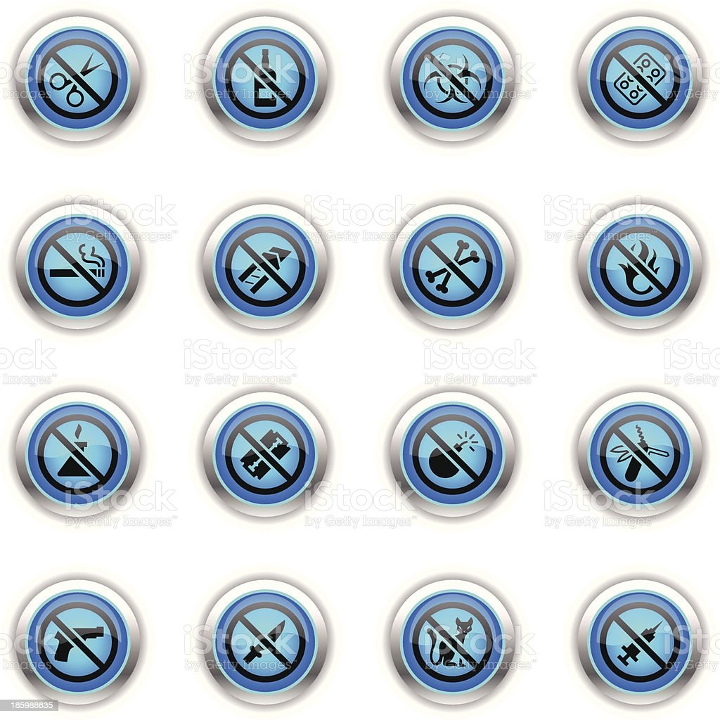 Blue Icons - Airport Security royalty-free stock vector art