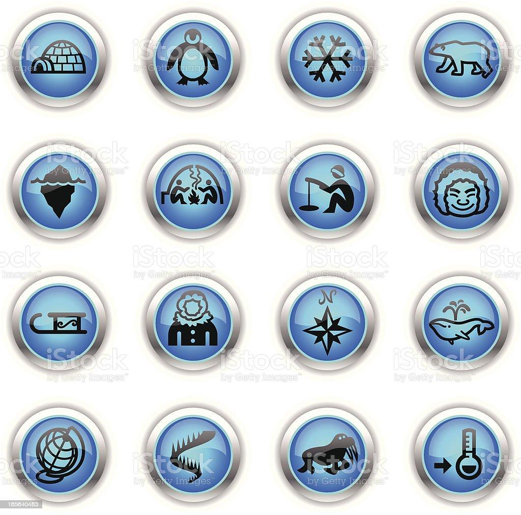 Blue Icons - Arctic Polar royalty-free stock vector art