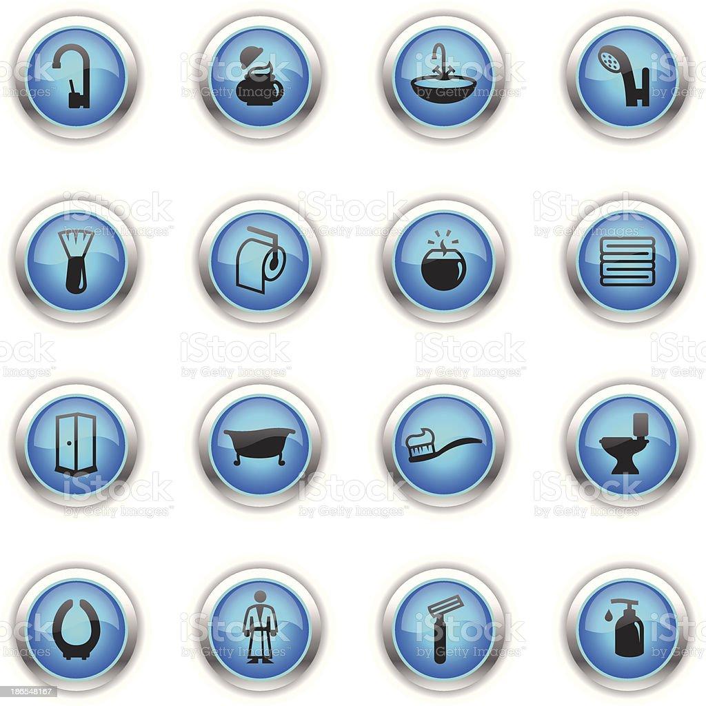 Blue Icons - Bathroom royalty-free stock vector art