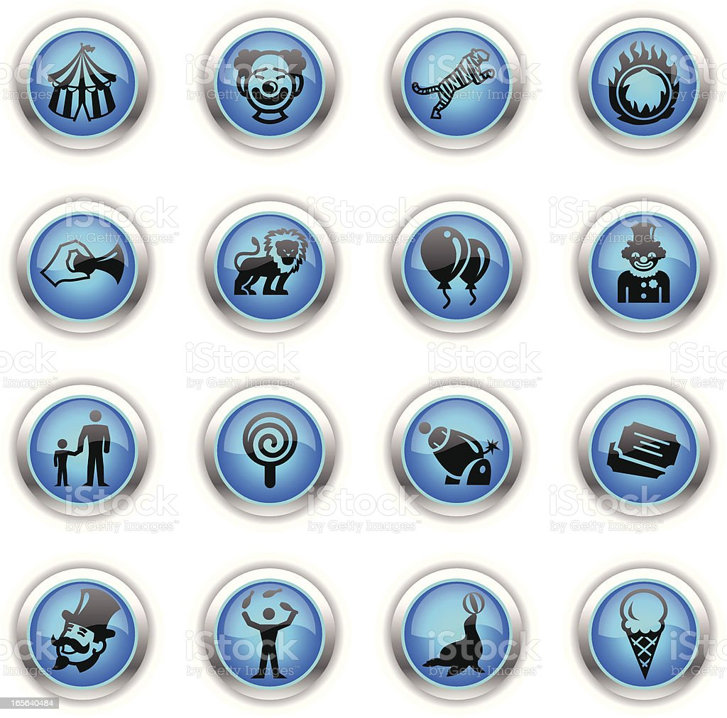 Blue Icons - Circus royalty-free stock vector art