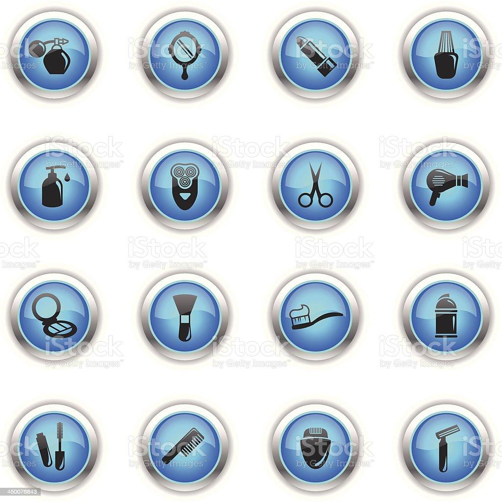 Blue Icons - Cosmetics royalty-free stock vector art