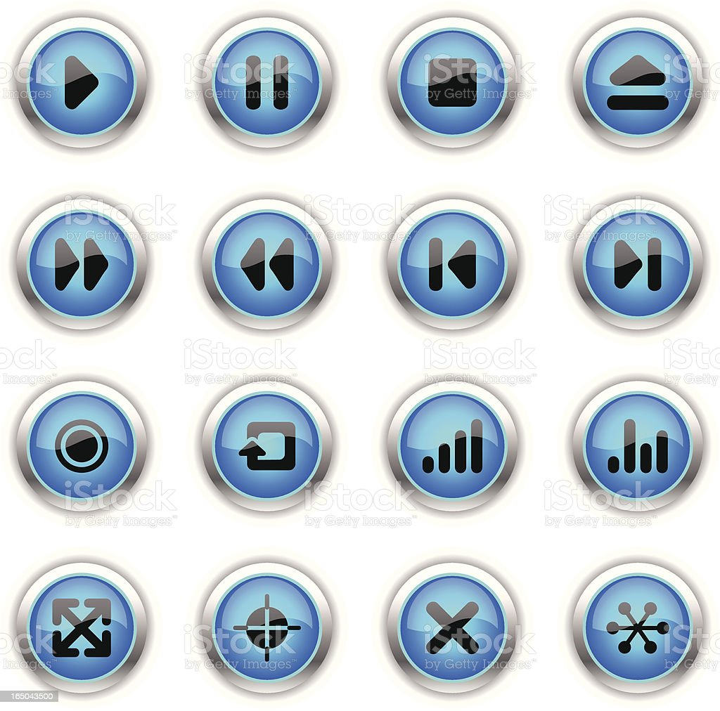 Blue Icons - Interface Navigation royalty-free stock vector art