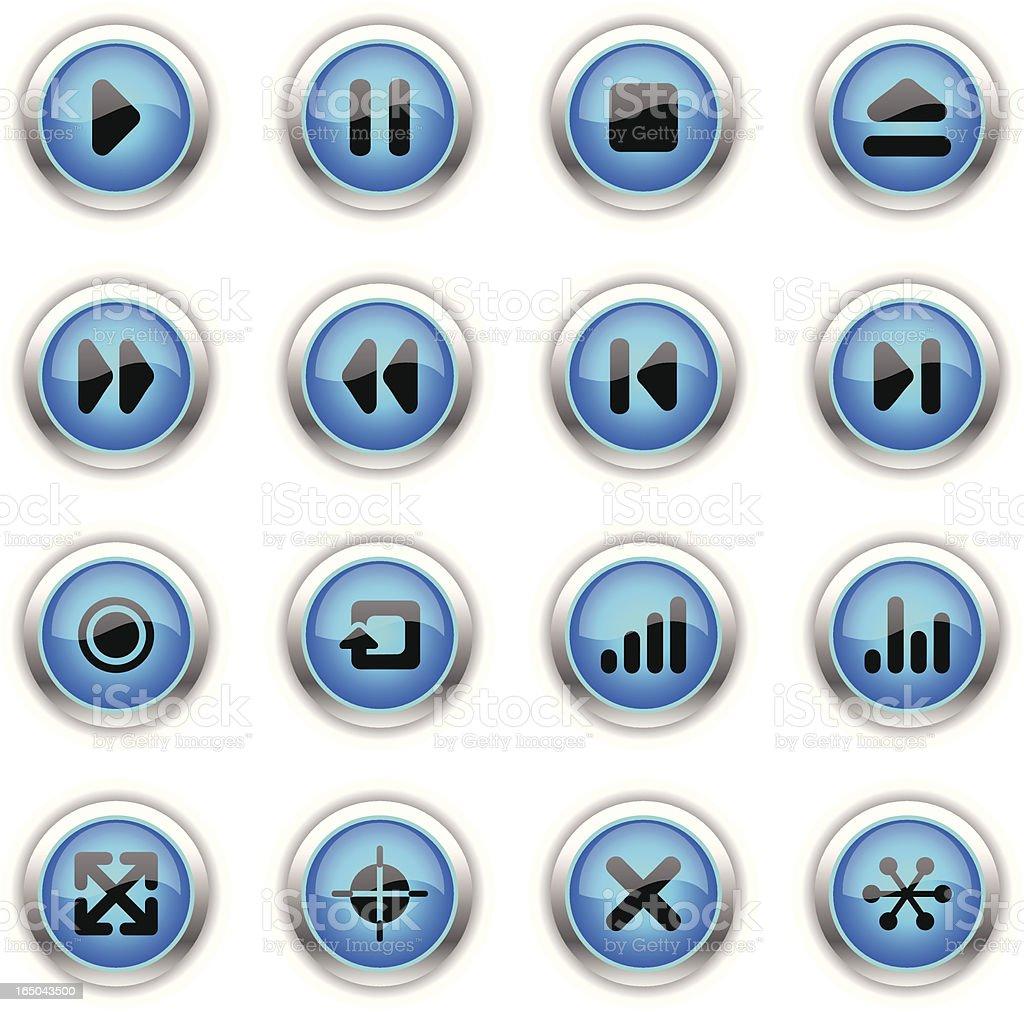 Blue Icons - Interface Navigation vector art illustration