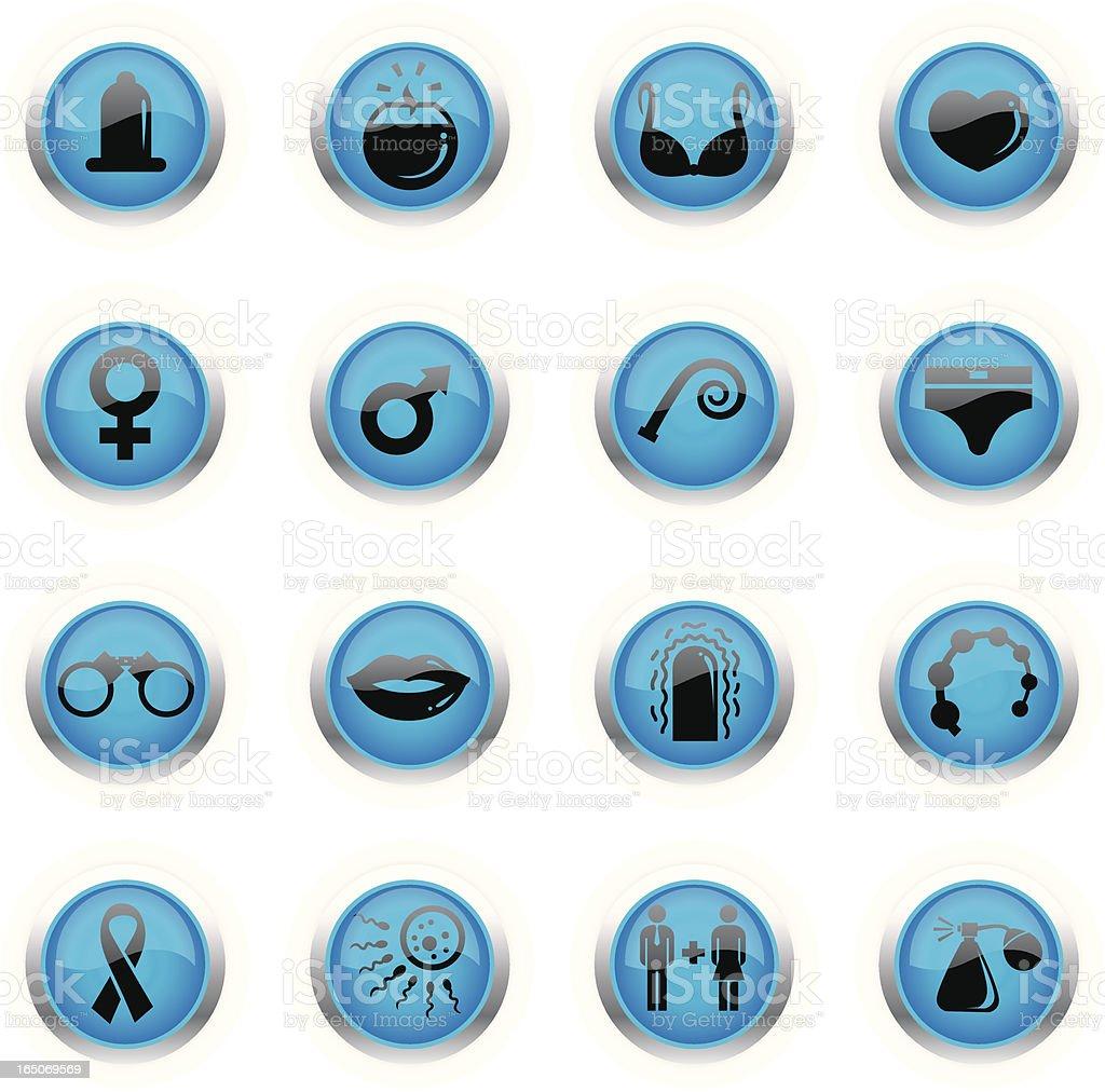 Blue Icons - Sex vector art illustration