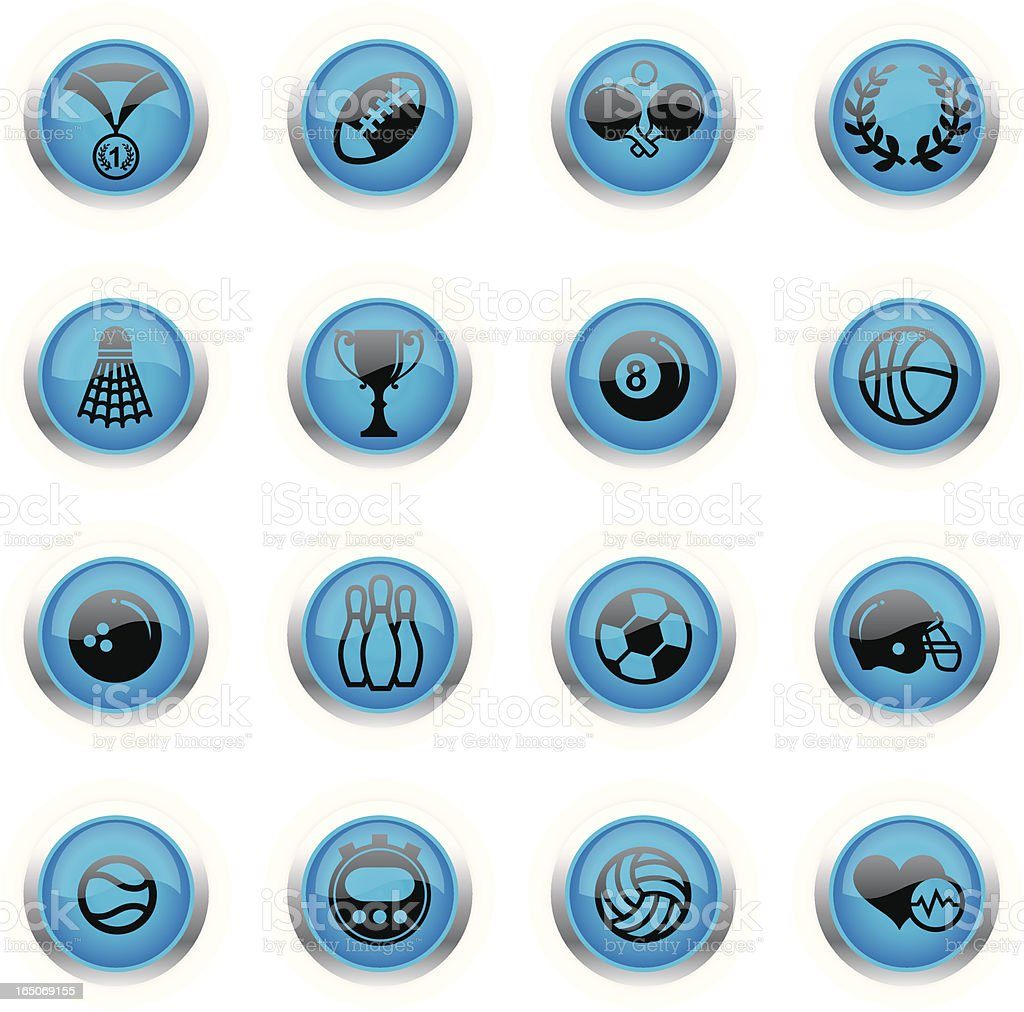 Blue Icons - Sports royalty-free stock vector art