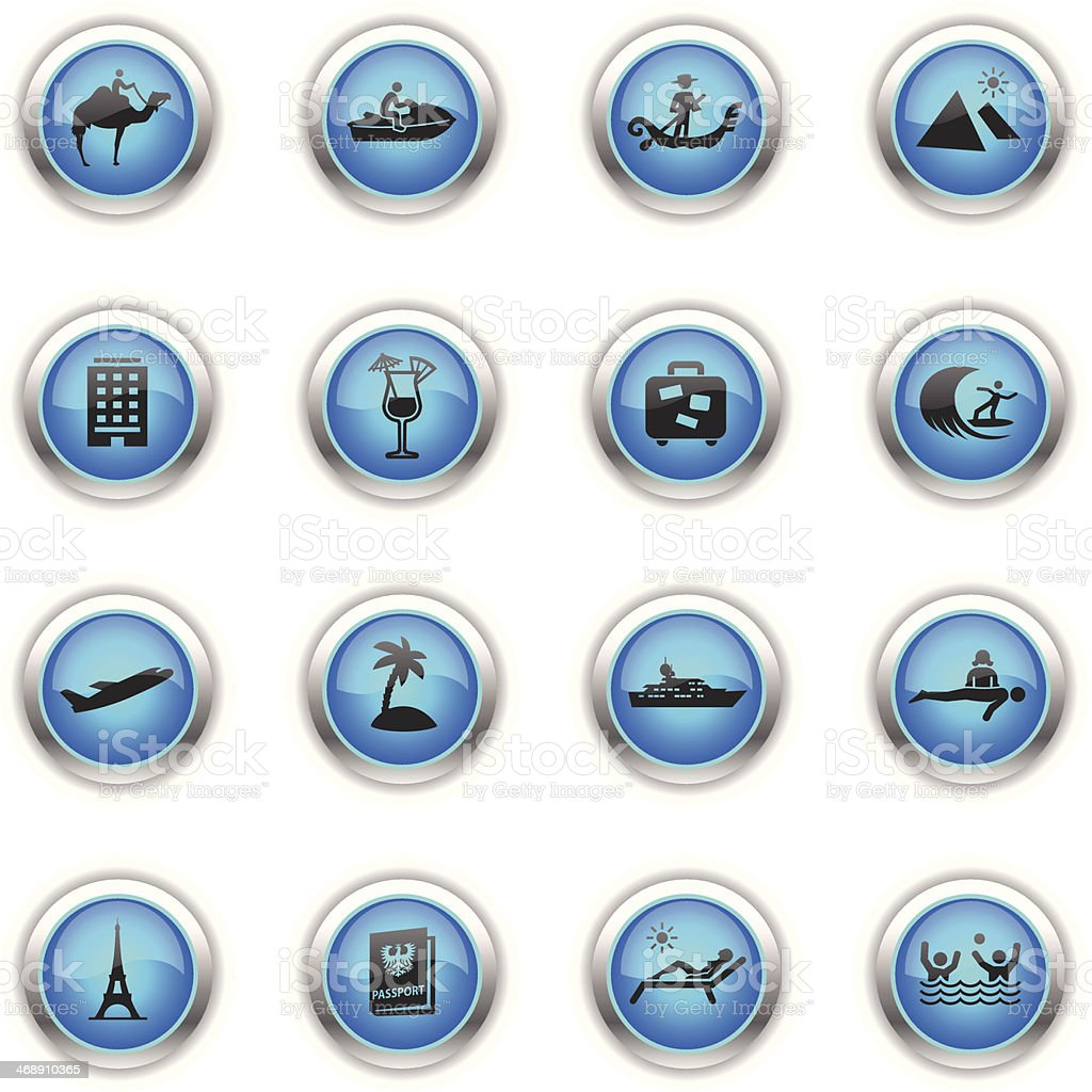 Blue Icons - Vacation royalty-free stock vector art