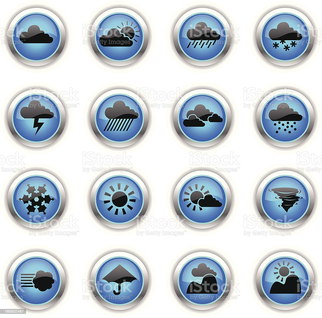 Blue Icons - Weather royalty-free stock vector art