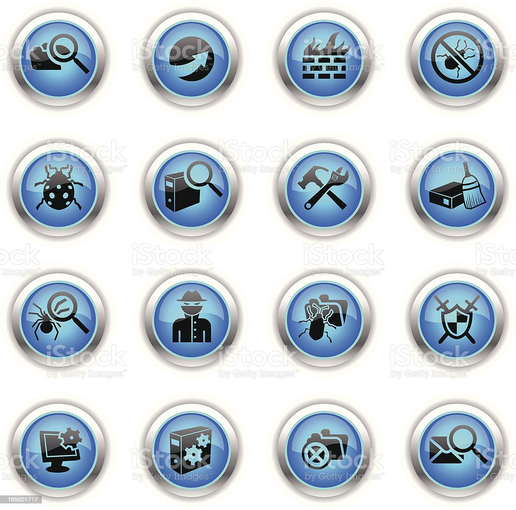 Blue Icons - Web Security royalty-free stock vector art