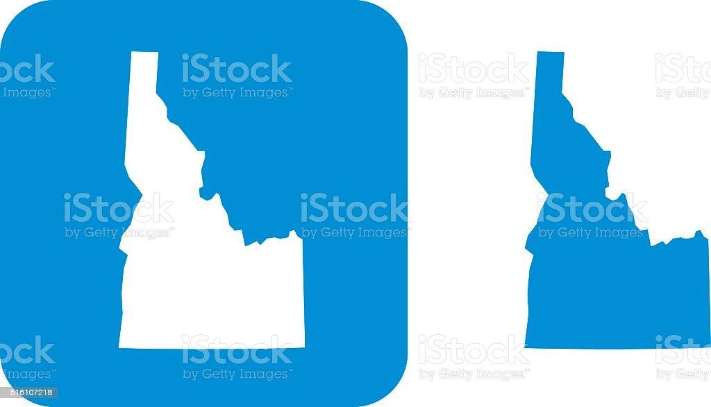 Blue Idaho Icon vector art illustration