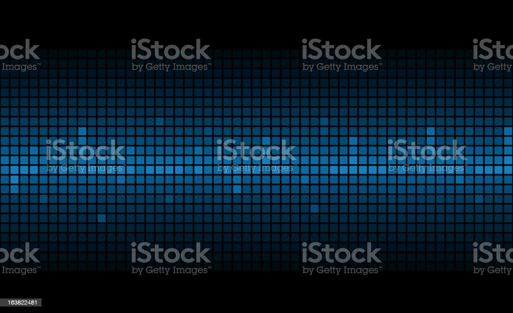 Blue image showing a person's pulse rate royalty-free stock vector art