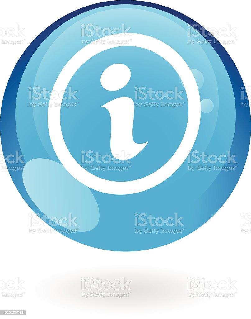 Panneau info bleu stock vecteur libres de droits libre de droits