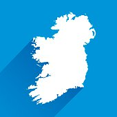 Blue Ireland Map Icon