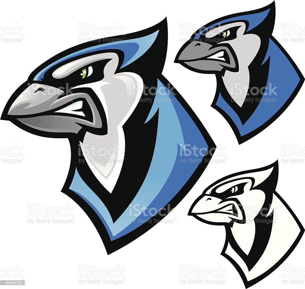 Blue Jay Mascot vector art illustration