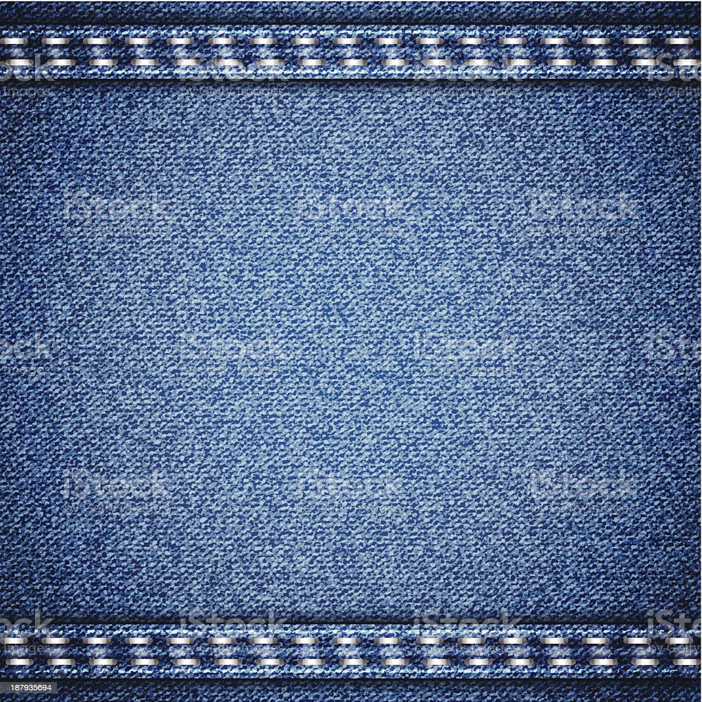 Blue jeans realistic denim texture royalty-free stock vector art