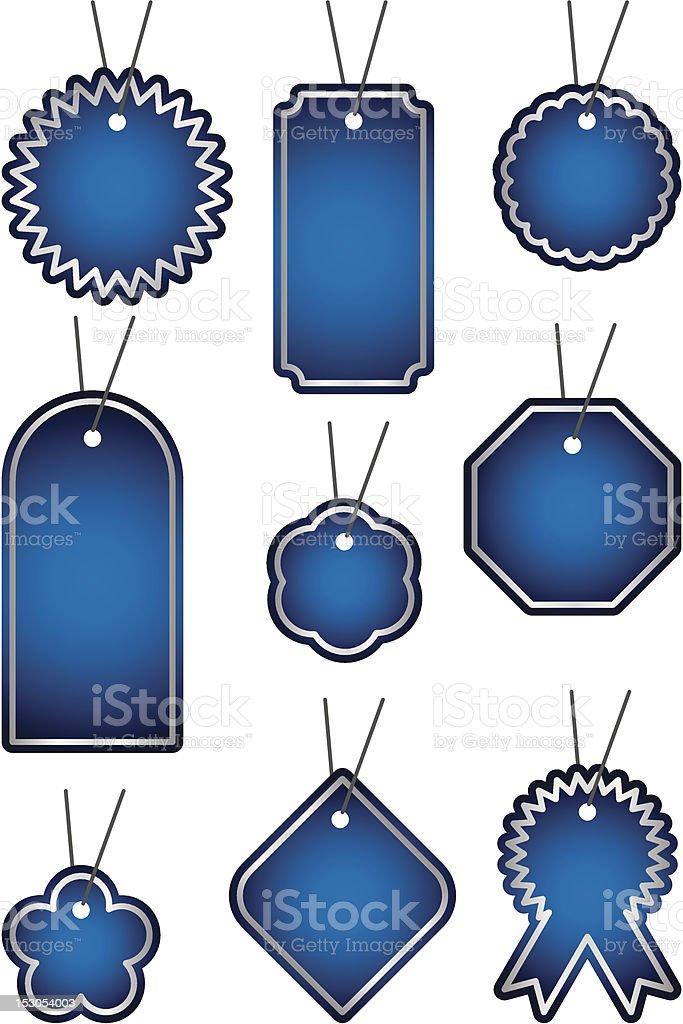 Blue label set royalty-free stock vector art