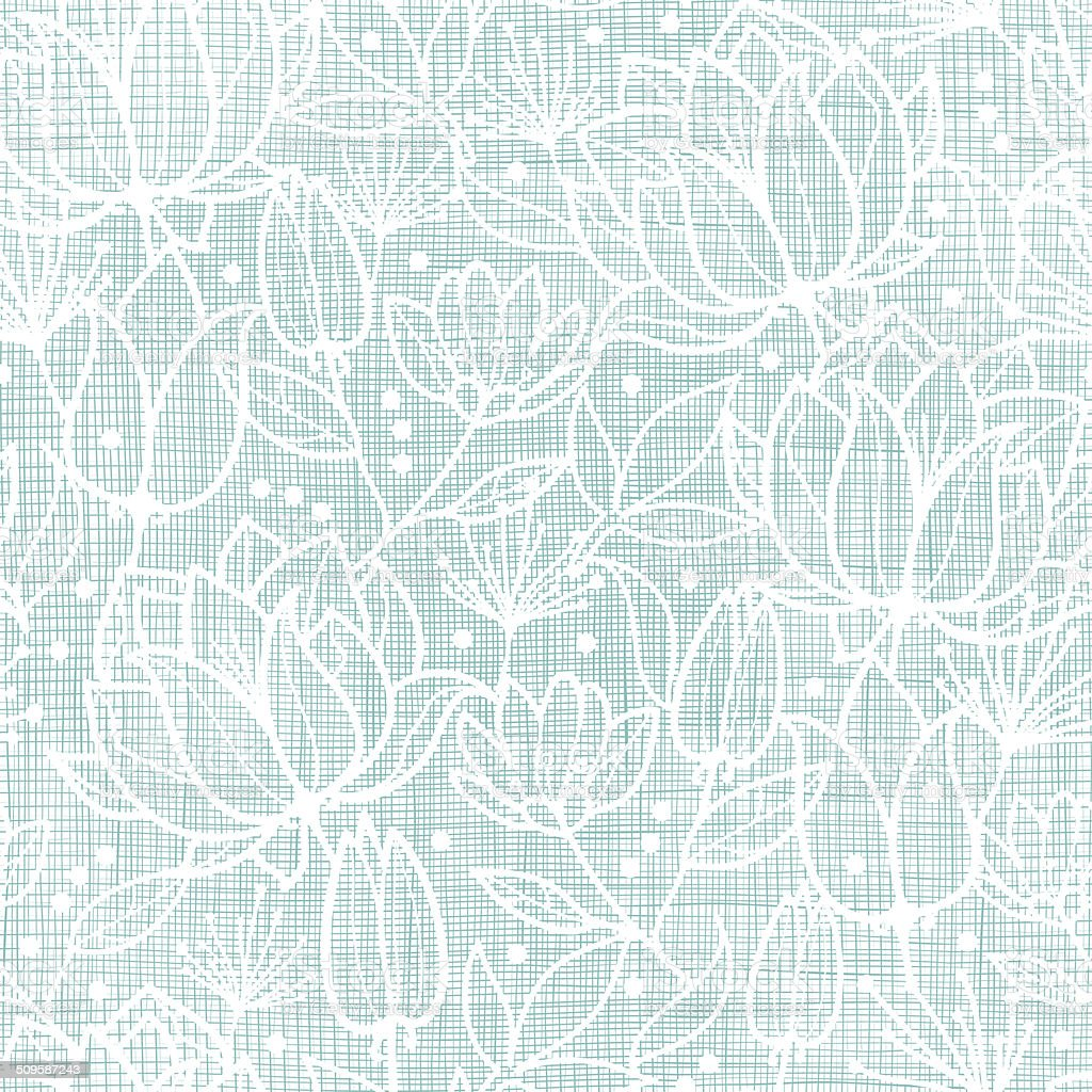 Blue lace flowers textile seamless pattern background vector art illustration