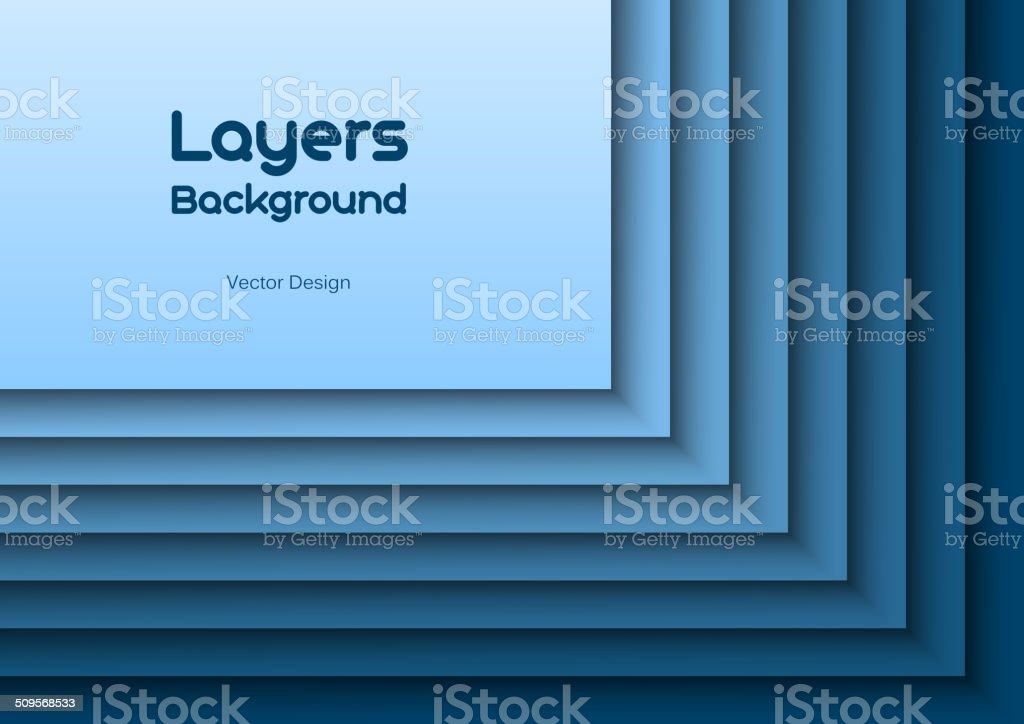 Blue Layeres vector art illustration