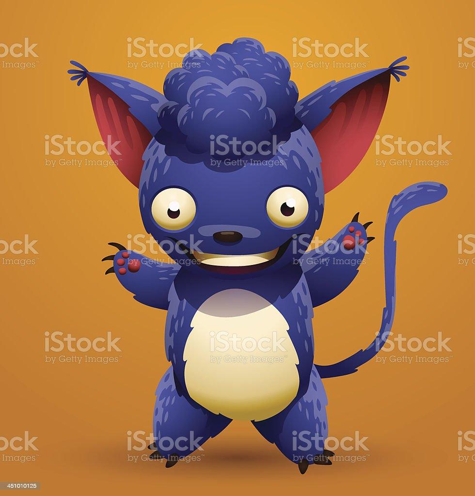 Blue lemur royalty-free stock vector art