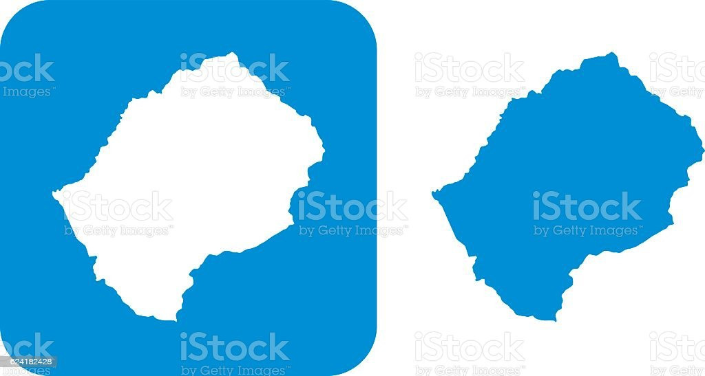 Blue Lesotho Icons vector art illustration