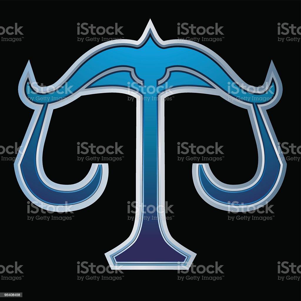 Blue libra royalty-free stock vector art