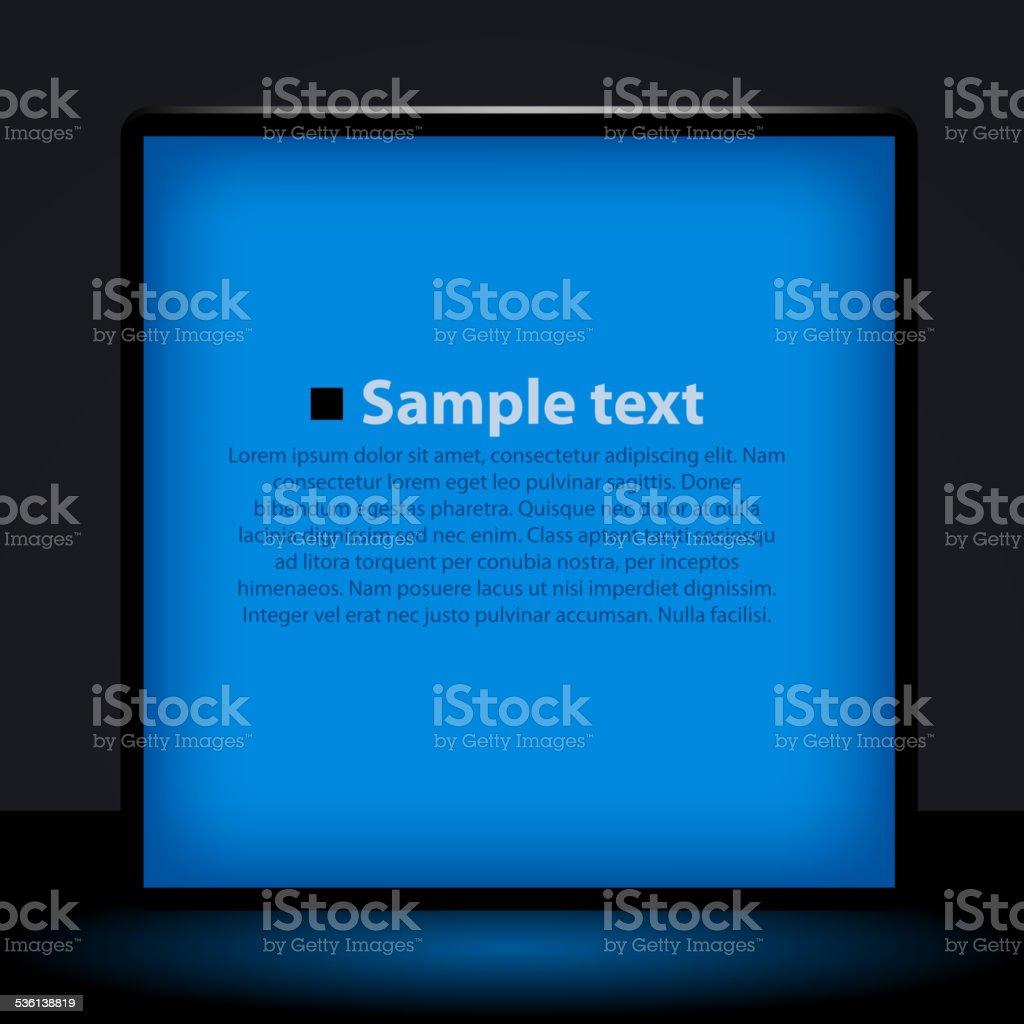 Blue light box illustration. vector art illustration