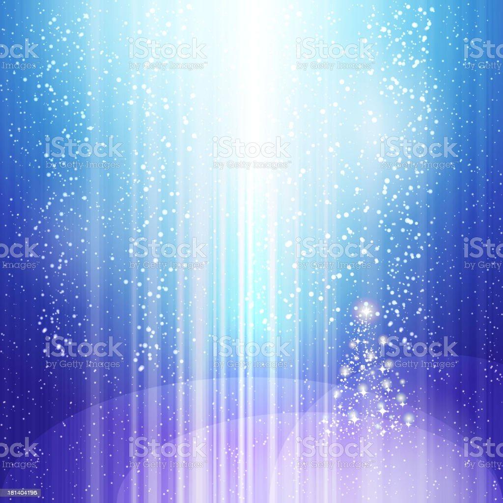 blue light christmas background royalty-free stock vector art