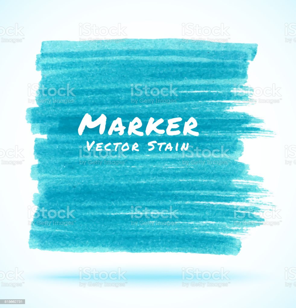 Blue Light Marker Stain vector art illustration