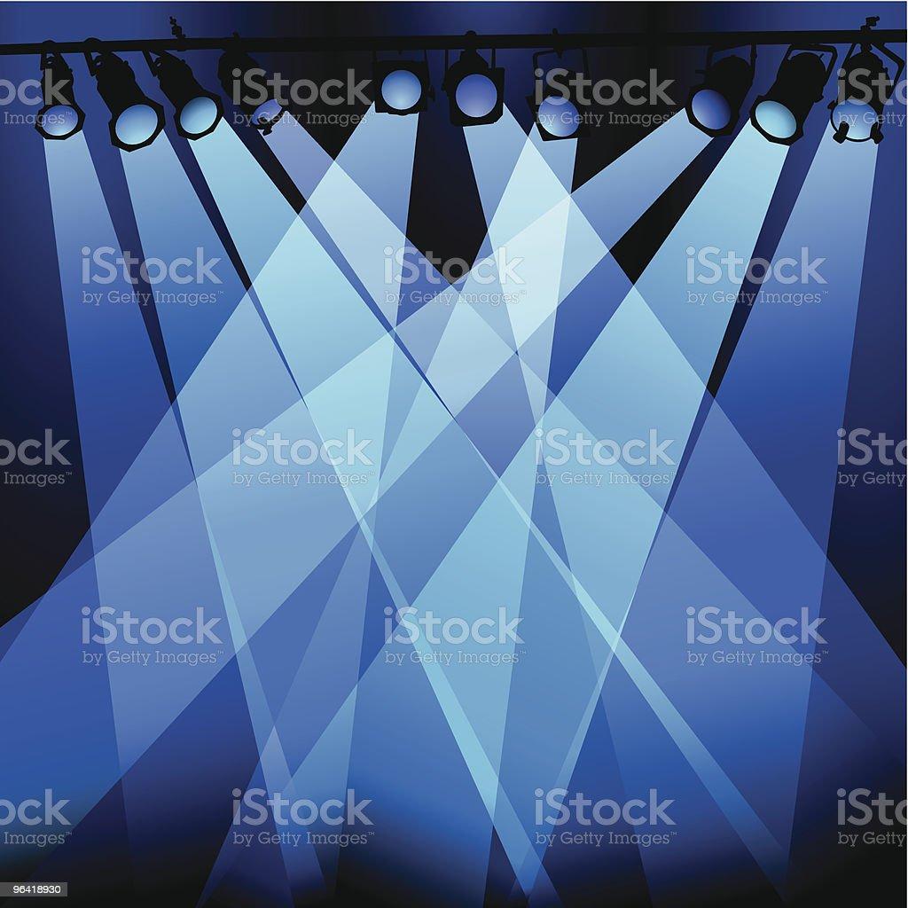 Blue Lights vector art illustration
