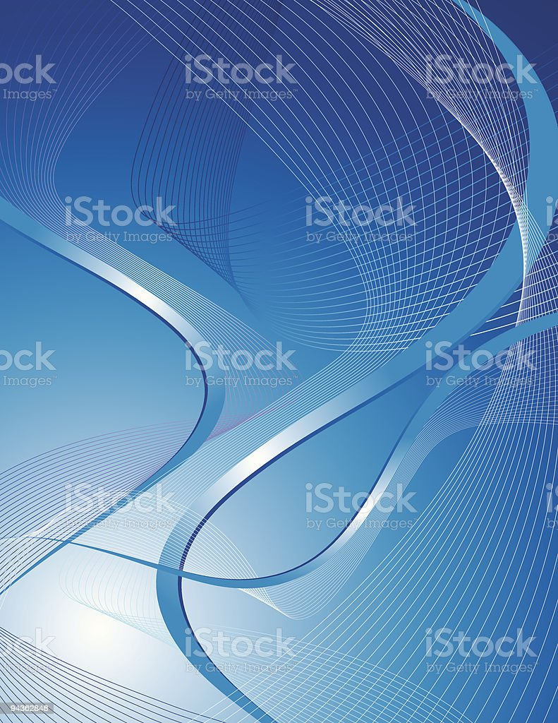 blue lines royalty-free stock vector art