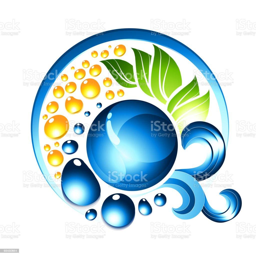Blue Liquid Icon royalty-free stock vector art