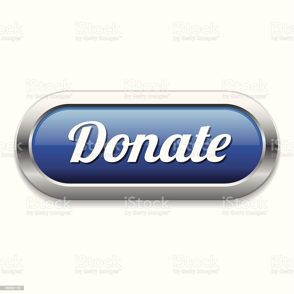 Blue long donate button royalty-free stock vector art