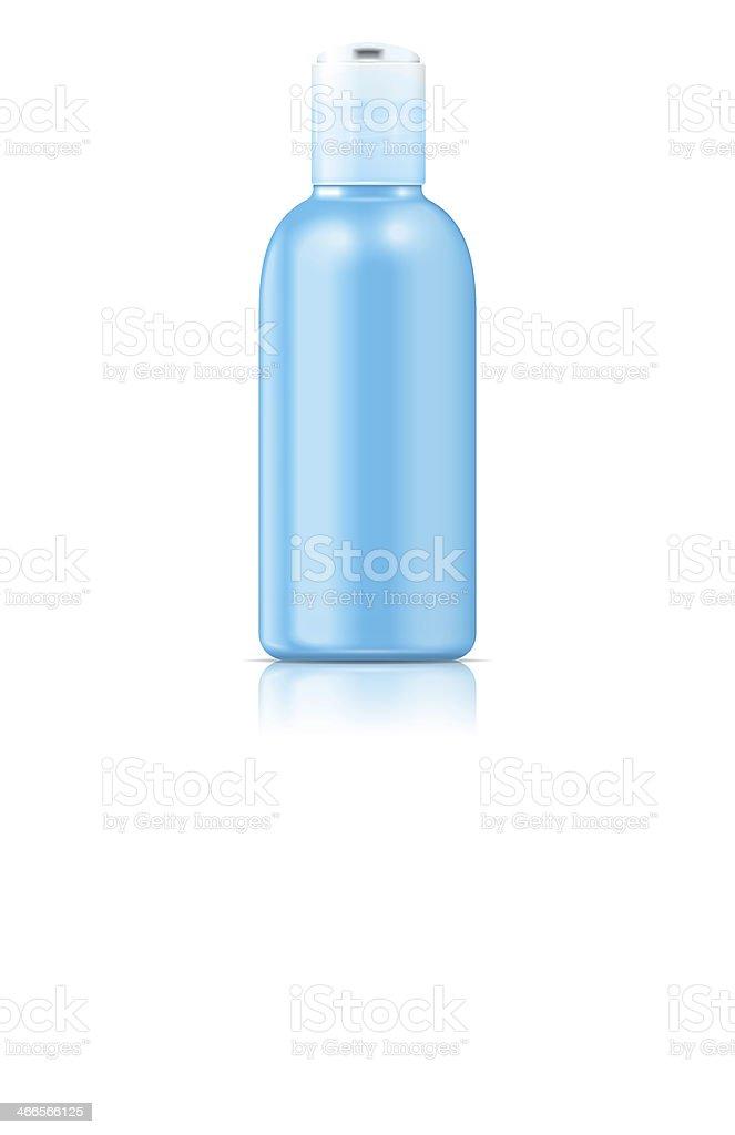 Blue lotion bottle. royalty-free stock vector art