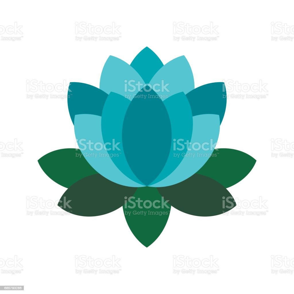 Blue lotus flower icon flat style stock vector art 685793286 istock blue lotus flower icon flat style royalty free stock vector art dhlflorist Images