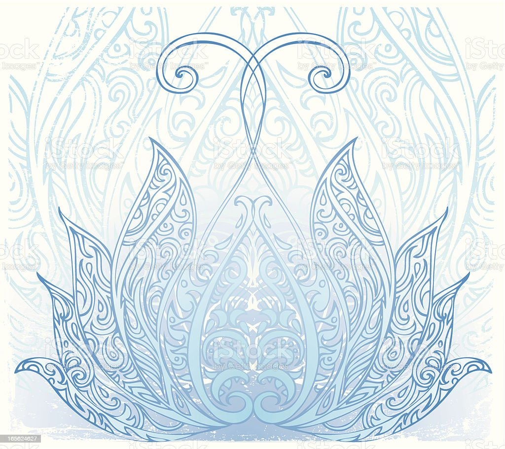blue lotus royalty-free stock vector art