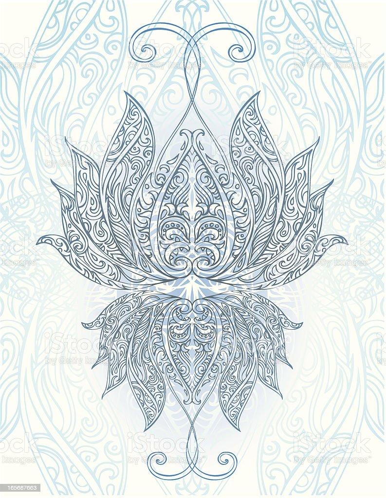 blue lotus royalty-free stock vector art