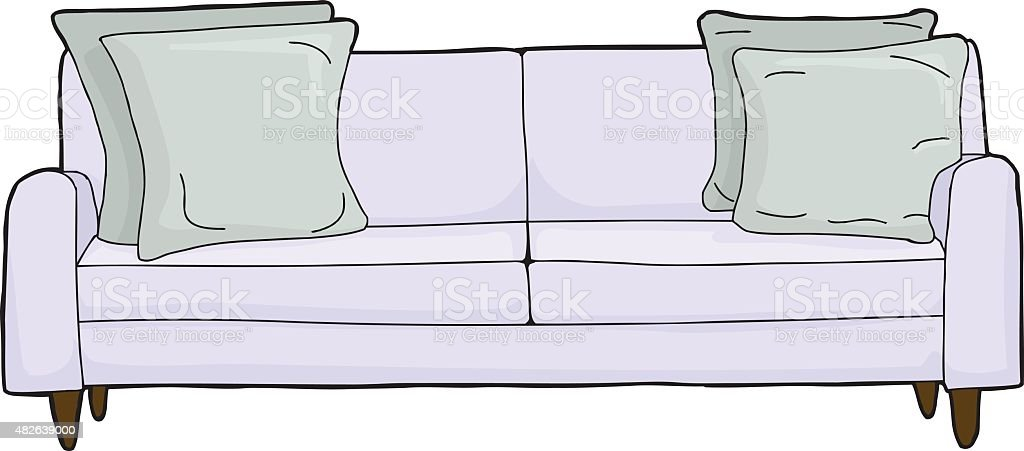 Sessel comic  Blau Sessel Comic Vektor Illustration 482639000 | iStock