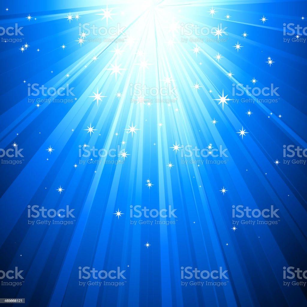 Blue Magic light vector art illustration