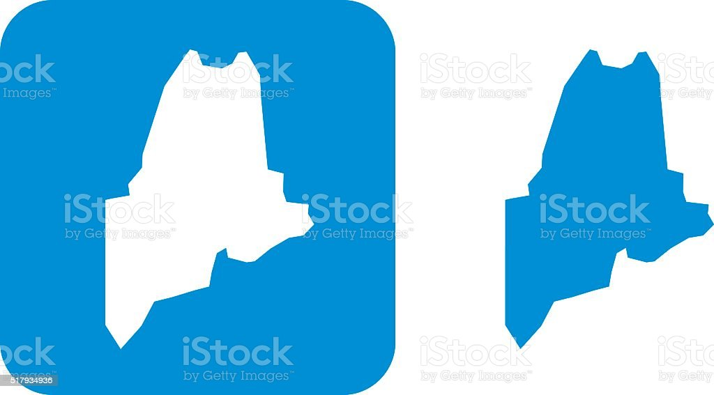 Blue Maine Icons vector art illustration