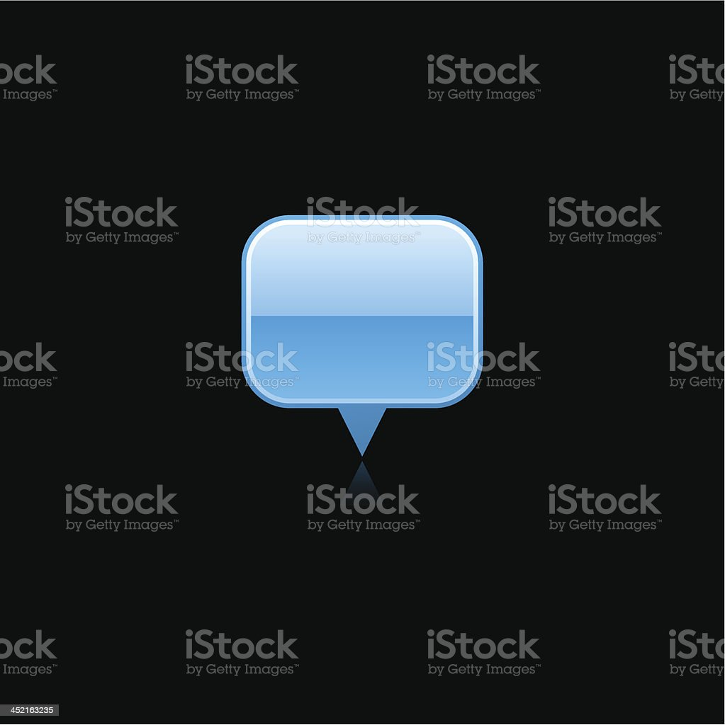 Blue map pin sign glossy icon rectangle pictogram internet button royalty-free stock vector art