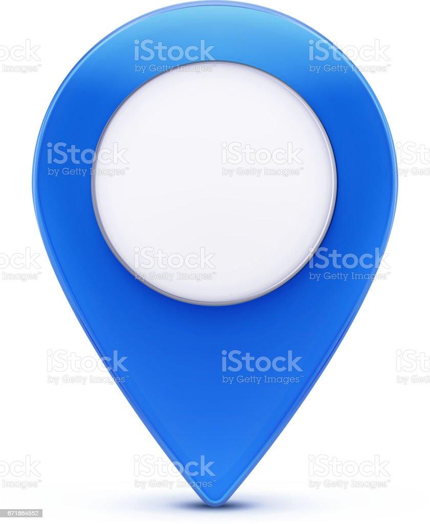Blue map pointer icon vector art illustration