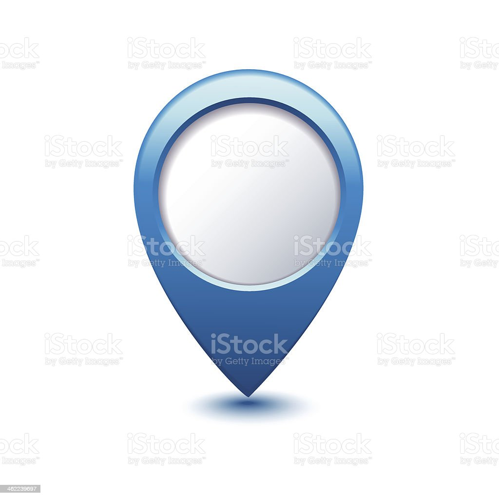 blue map pointer - Illustration vector art illustration