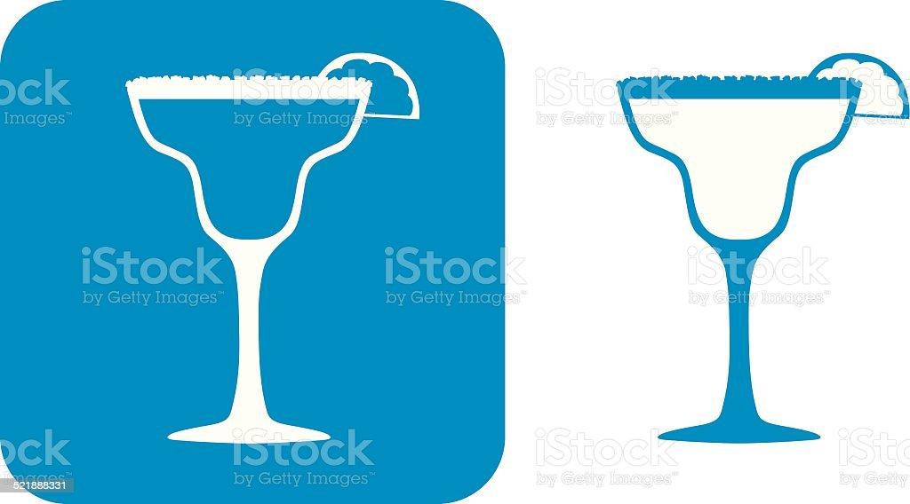 Blue Margarita Icons vector art illustration