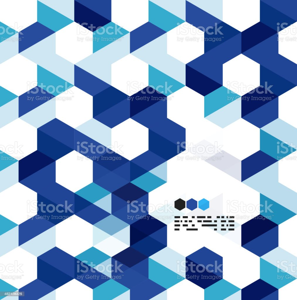 Blue modern geometrical abstract background royalty-free stock vector art