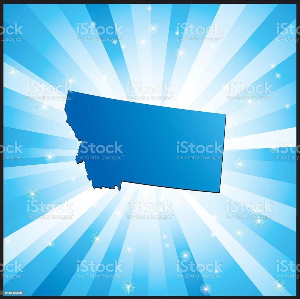 Blue Montana royalty-free stock vector art
