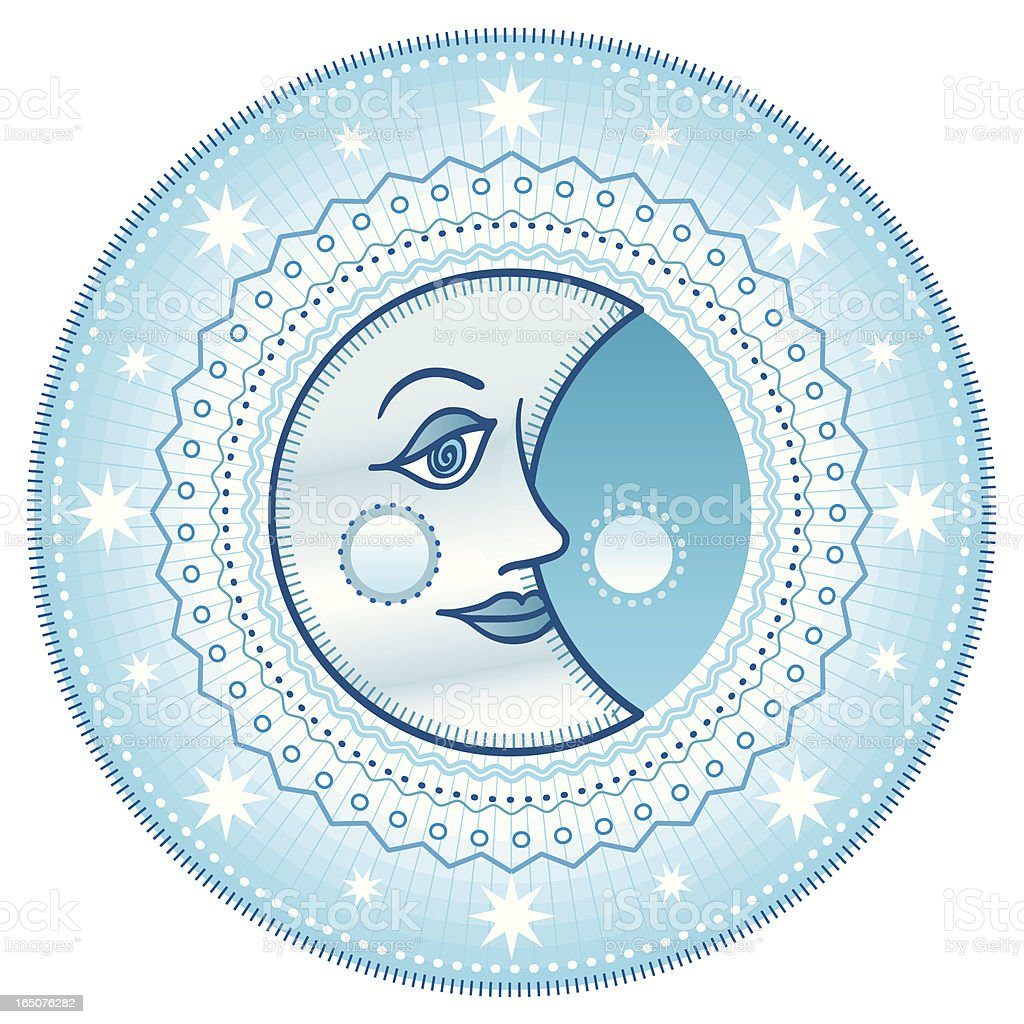 Blue moon royalty-free stock vector art