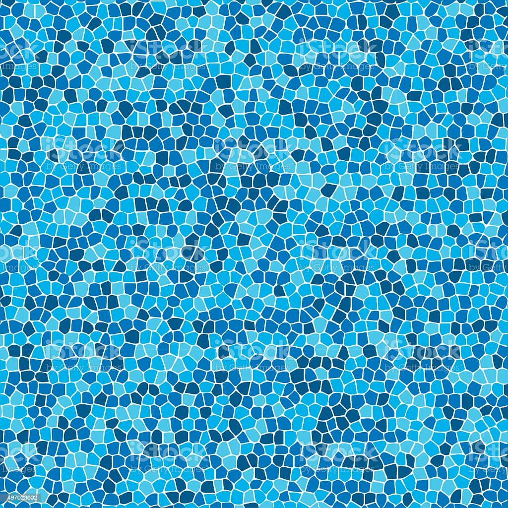 Blue Mosaic vector art illustration