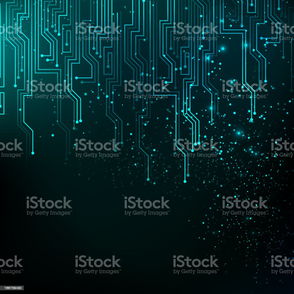 Blue motherboard lines background royalty-free stock vector art