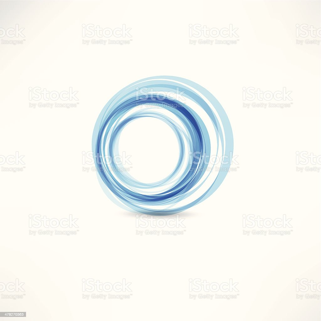 Blue motion circle vector art illustration